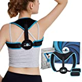 SpineSpy Kyphosis Posture Corrector Back Brace with Clavicle and Thoracic Support for Men Women & Teens| Adjustable, Corrective Pull Cushion Supporter Straightener for Spine, High Upper Back Arch Pain