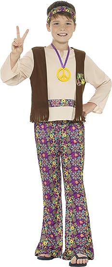 Smiffys-21831S Disfraz De Hippy Para Chico, Con Camiseta, Chaleco Cosido, multicolor, S-Edad 4-6 años (21831S): Amazon.es: Juguetes y juegos