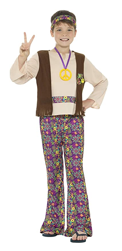 60s , 70s Hippie Clothes for Men Smiffy Peace Out Hippie Boy Child Costume- $31.00 AT vintagedancer.com