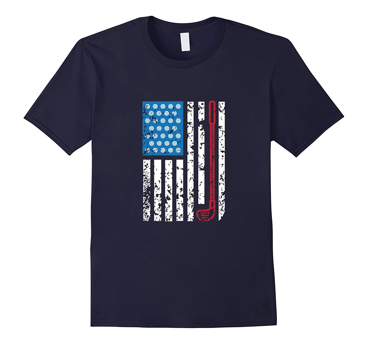 American Flag - Golf Club - Cool Golfing Shirt-Vaci