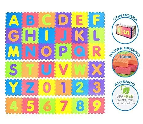 Tibelara Grande Alfombra Puzzle para niños 36 Piezas | Extra Suave (12 mm) |