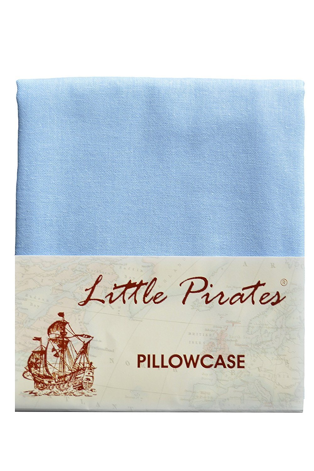 Brand New Baby Cot Bed Pillow Case 60 x 40 - 100% Cotton - Blue Little Pirates