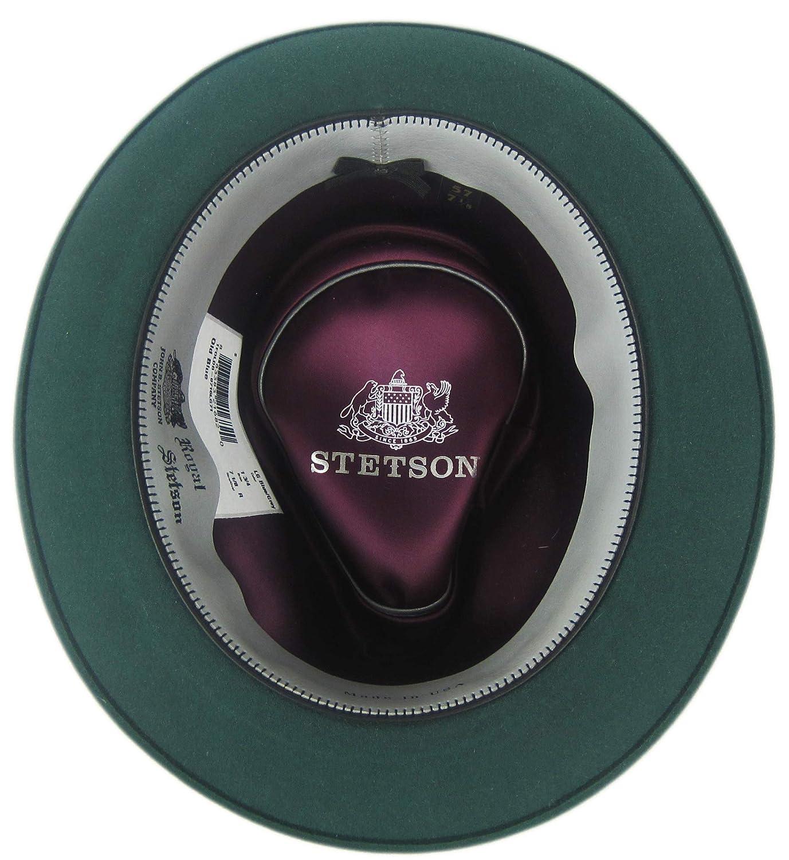 Stetson Royal Stetson Old Blue Fedora Size 7 1//8 R Oval 1 3//4 Brim