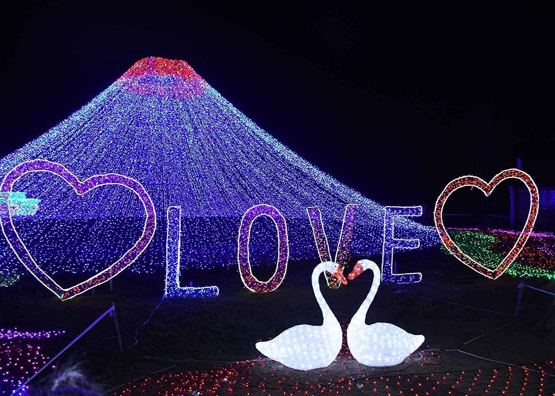 CdHBH 7x5ft Romantic Love Backdrop Romantic Love Theme Light Show Photography Backdrop Love Confession Scene Photography Background Props Wedding Photography Theme Background LYXC173