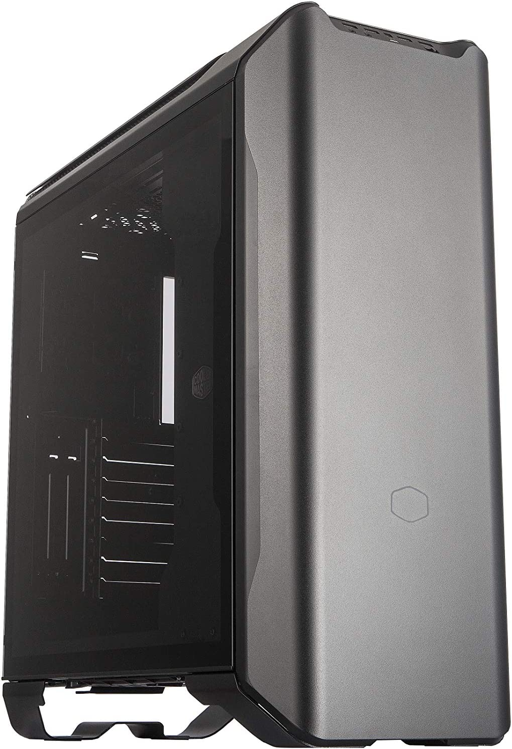 Cooler Master MasterCase SL600M Black Edition ATX Mid-Tower with Aluminum Panels, Vertical Chimney Layout, Type-C I/O Panel, Noise Reduction & Top Air Vents