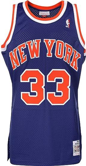 online retailer fb6d5 8174f Mitchell & Ness Patrick Ewing #33 New York Knicks 1991-92 Swingman NBA  Jersey Blue