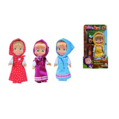 Simba 109301678 Masha and The Bear-Colourful Doll Assortment: Toys & Games