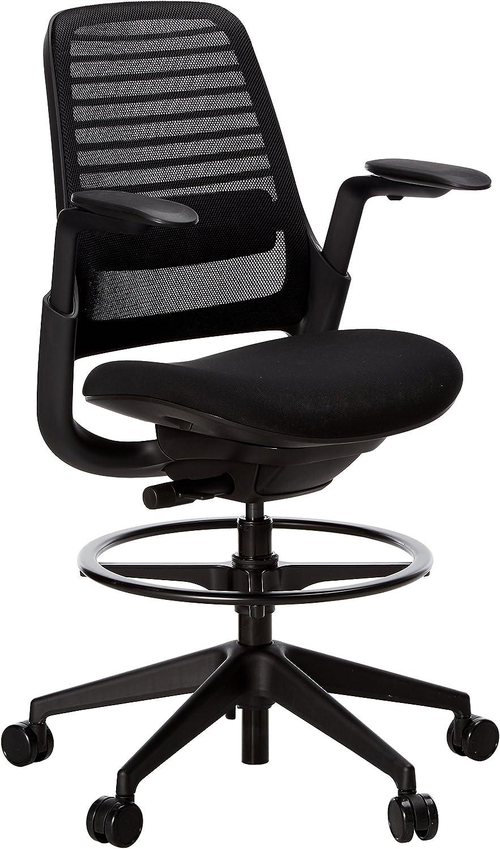 Steelcase Series 1 Office stool, Licorice -