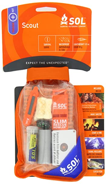 Amazon.com  S.O.L. Survive Outdoors Longer Scout Survival Kit ... 40253ec7de
