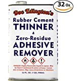 Doc Edingtons Rubber Cement Thinner & Adhesive Remover 32oz. Amazing Zero-Residue, Non-Staining & Low-Odor Formula. Great For Fast, Damage-Free Sticker Removal for Book Repair & FBA Retail Arbitrage