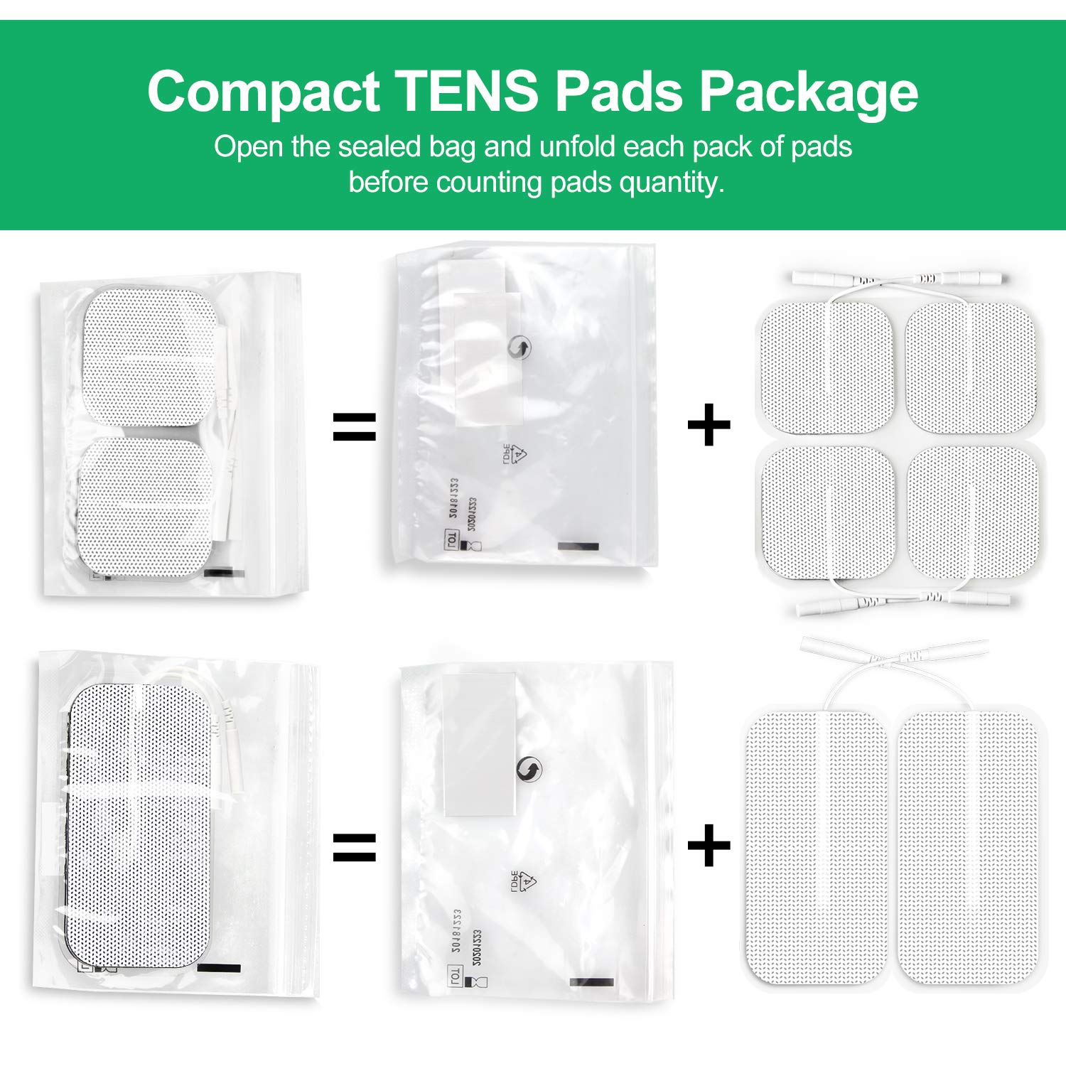 AUVON Rechargeable TENS Unit Muscle Stimulator, 2nd Gen16 Modes TENS Machine with Upgraded Self-Adhesive Reusable TENS Electrodes Pads (2''x2'' 12pcs, 2''x4'' 2pcs) by AUVON (Image #9)