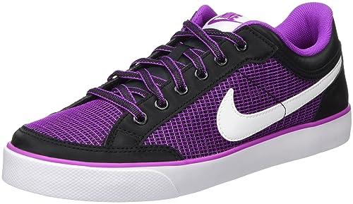 Nike Capri 3 Txt, Scarpe da Skateboard Bambina, Nero (Black/White-Hyper Violet), 36.5 EU