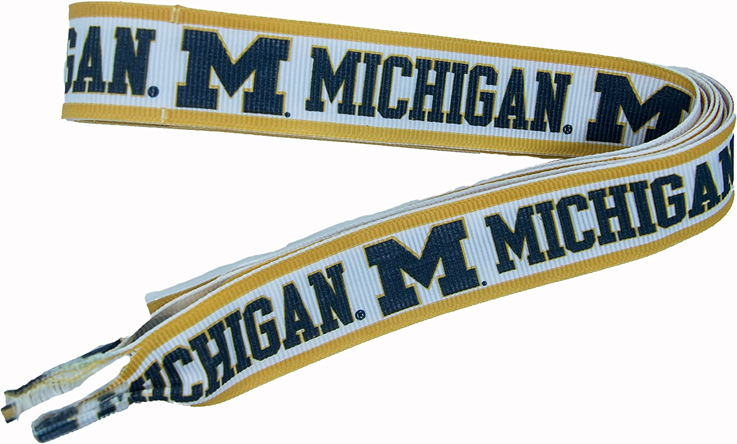 Divine Creations NCAA Michigan Wolverines Shoelaces, Navy/White, One Size : Clothing