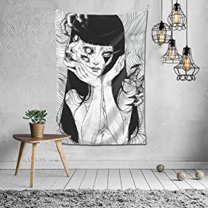 Junji Ito Tapestry Weird Style Decorative Wall Tapestry Wall Hanging Tapestry For Living Room Dorm Decor 60X40in