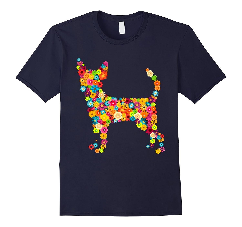 Chihuahua dog Flower Tshirt-BN