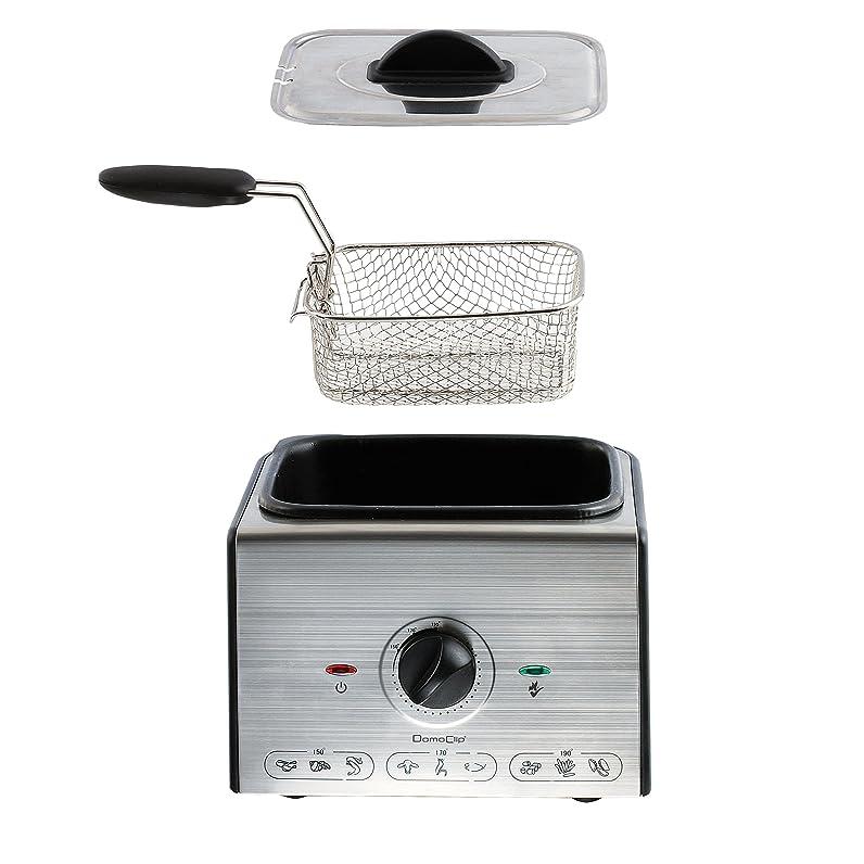 Domoclip DOC144 Mini Friteuse Inox 1 Litre, 1300: Amazon.fr ...