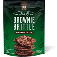 Brownie Brittle, Mint Chocolate Chip, 5 Oz Bag (Pack of 6),