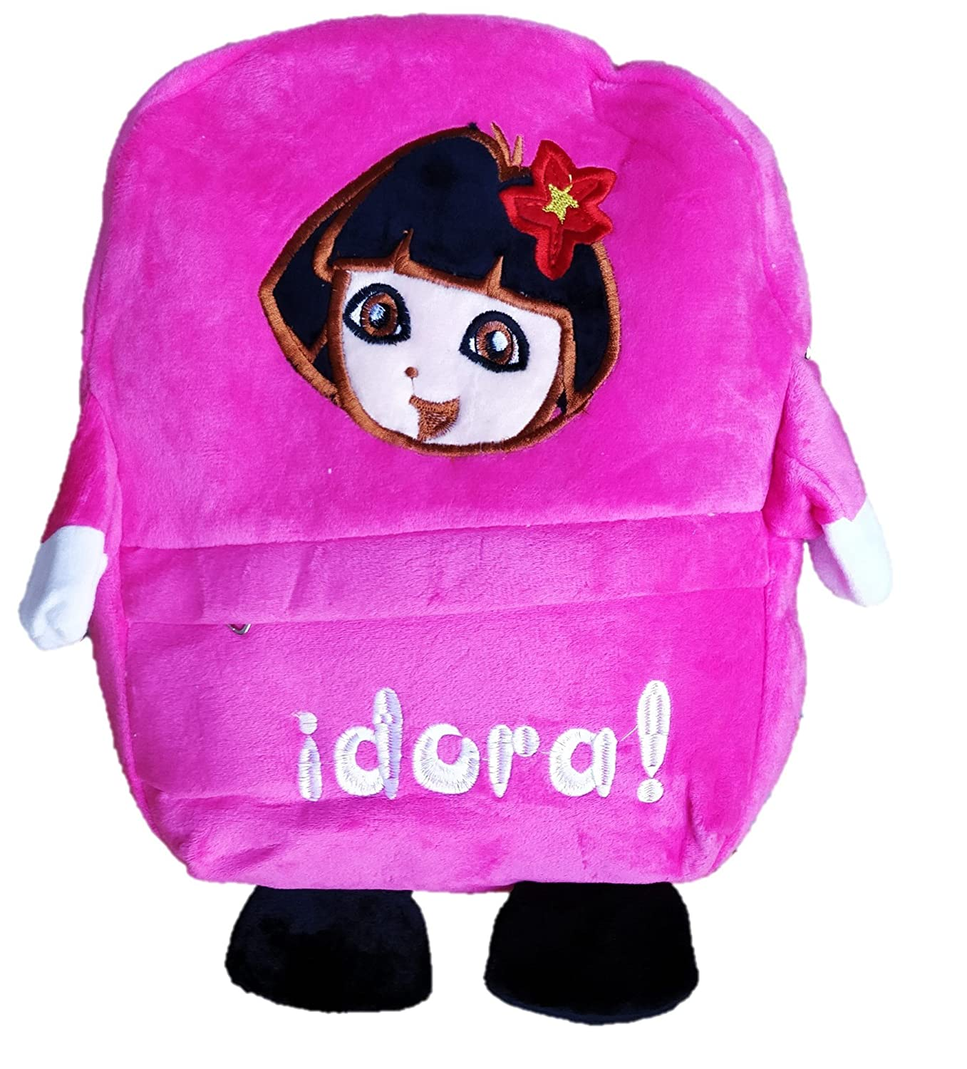 Buy ToyJoy Kid s Idora Princess Explorer 3 Compartment Plush Soft School  Cartoon Bag with Free Keychain 35cm (Multicolour) Online at Low Prices in  India ... 92d619b6505ce