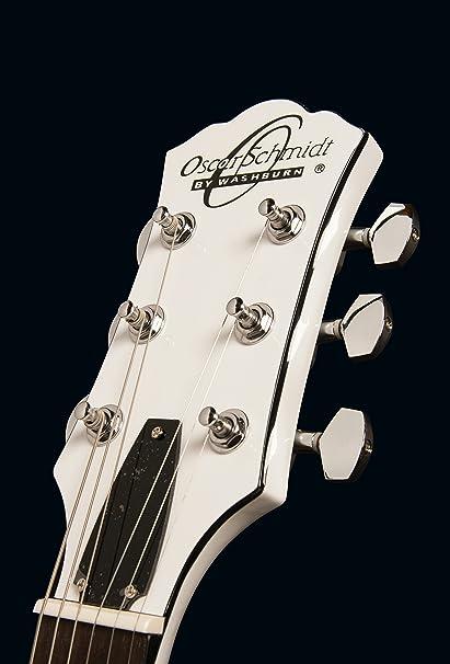 Oscar Schmidt oe20wh LP Style Guitarra Eléctrica - Color blanco: Amazon.es: Instrumentos musicales