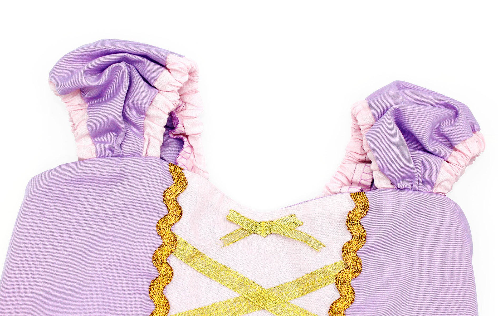 Cotrio Girls Princess Rapunzel Dress up Costume Halloween Cosplay Fancy Party Dresses Size 4T (110, Rapunzel Tutu Dress) by Cotrio (Image #3)