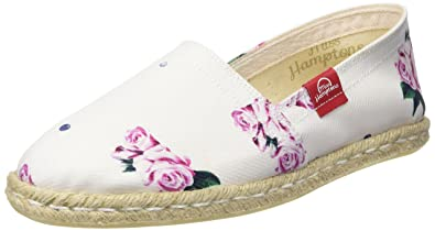 MISS HAMPTONS Damen Paris Espadrilles, Weiß, 38 EU