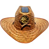 b6743228b64 Amazon.com  Cooling Sun Straw Solar Men s Palm Leaf Cowboy Hat w ...