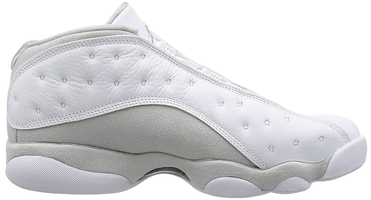 Nike Air Jordan 13 Low Pure Money Shoes In Monochrome White Leather  310810-100: Amazon.co.uk: Shoes & Bags