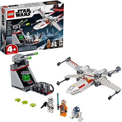 Amazon Com Lego Star Wars X Wing Starfighter Trench Run 75235 4 Building Kit 132 Pieces Toys Games