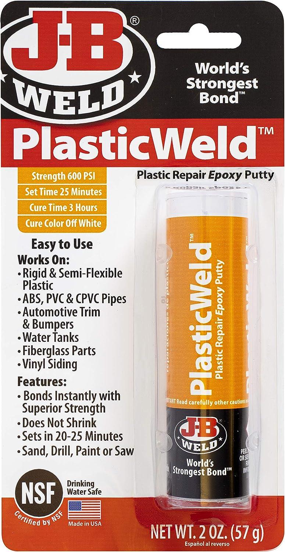 J-B Weld 8237 PlasticWeld Plastic Repair Epoxy Putty - 2 oz.