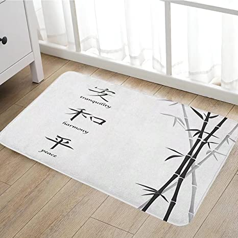 Amazon Bamboo Door Mat Outside Illustration Of Chinese Symbols