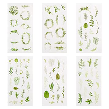Green Plants Sticker Set