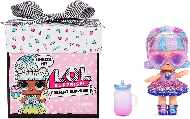 Amazon Com L O L Surprise Present Surprise Doll With 8