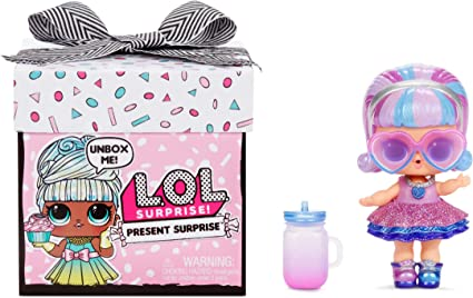 Amazon Com L O L Surprise Present Surprise Doll With 8 Surprises Toys Games