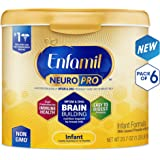 Enfamil 美赞臣 NeuroPro婴儿配方奶粉,奶粉桶可重复使用,每桶20.7盎司(约587g)(6件装)部分库存有效期至2019年6月1日