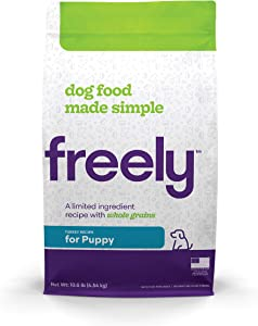Freely Limited Ingredient Diet, Natural Dog Food For Puppies, Whole Grain Dry Puppy Food, Turkey Kibble, 10lb bag