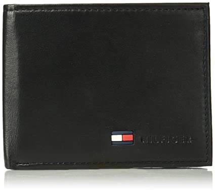 47886570 Tommy Hilfiger Men's Leather Wallet - Bifold Trifold Hybrid Flip Pocket  Extra Capacity Casual Slim Thin