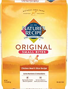 Nature's Recipe Small Bites Dry Dog Food, Chicken Meal & Rice Recipe