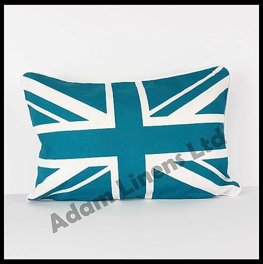 Lujo 100% Algodón Funda de cojines-Union Jack-Por Adam Home ...