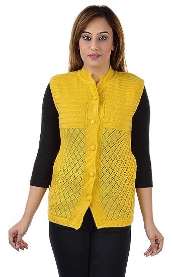 15630f67f9f5f1 Shree Mark Womens   Ladies   Girls Woolen Sleeveless Winter Wear Buttoned  Cardigan and Womens   Ladies   Girls Woolen Sleeveless Sweater.