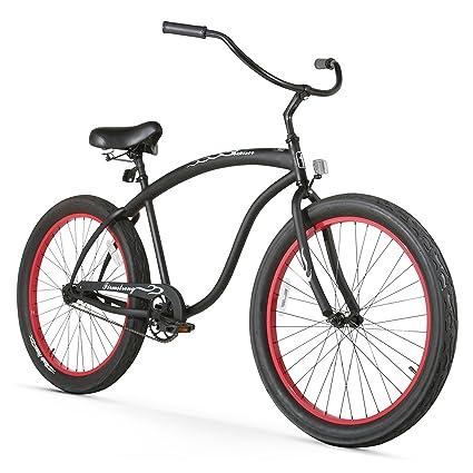 6594f082dd2 Amazon.com : Firmstrong Bruiser 3.0 Man Single Speed Beach Cruiser Bicycle,  26-Inch, Matte Black : Sports & Outdoors