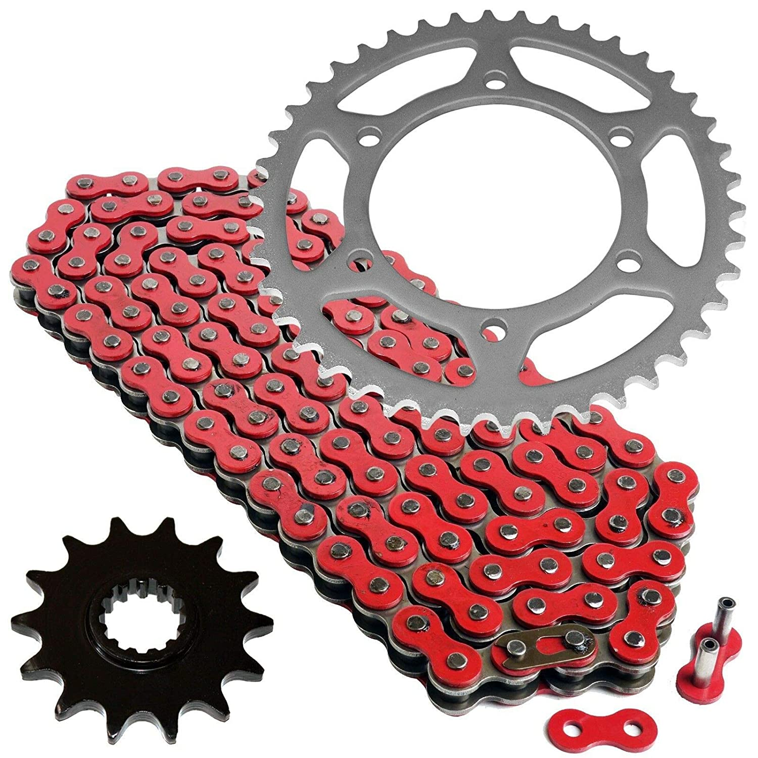 Amazon.com: Caltric Red Drive Chain And Sprocket Kit for ...