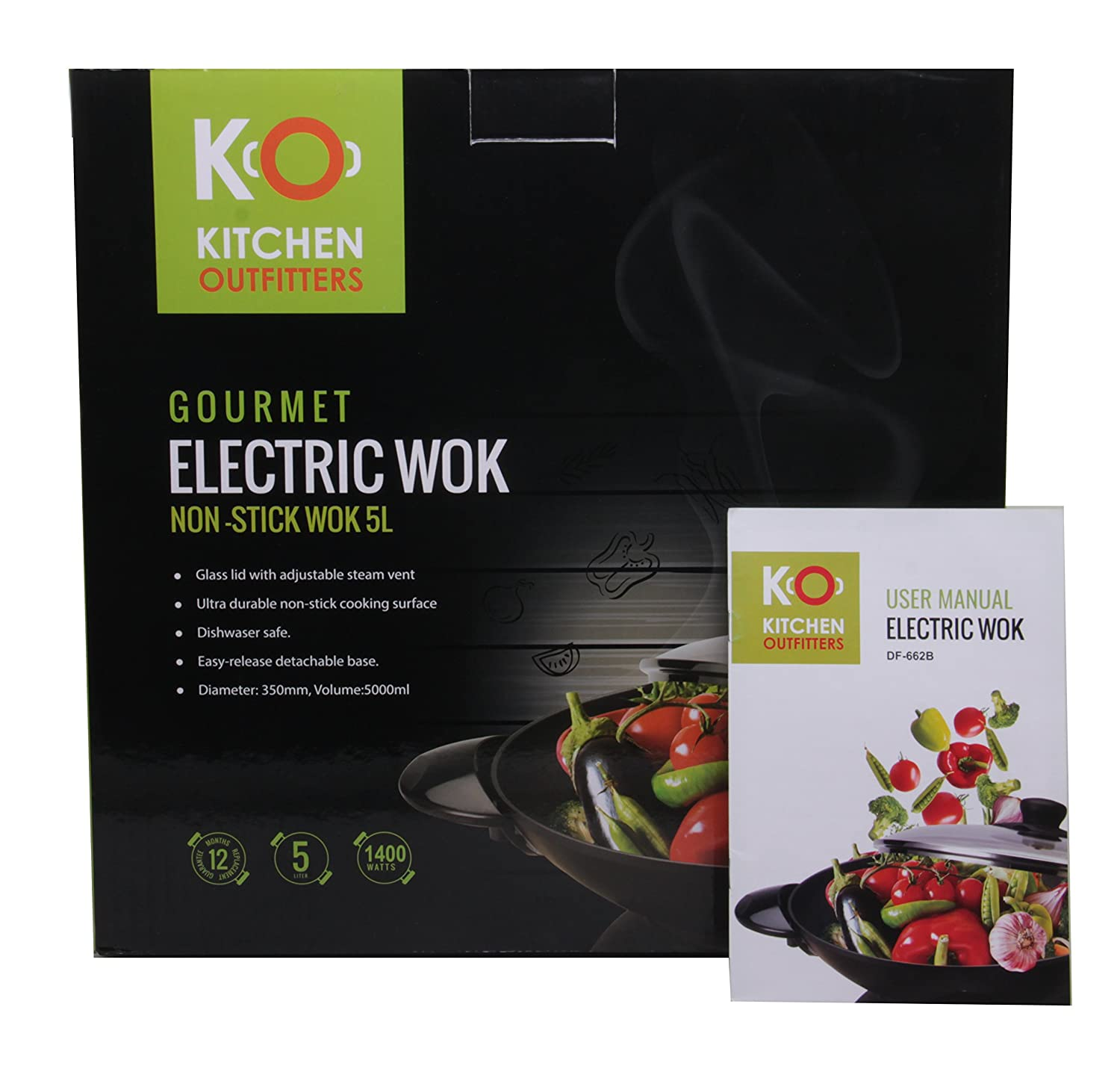 Amazon.com: Kitchen Outfitters Non Stick Heavy Duty Cast Aluminum Gourmet  Electric Wok: Kitchen U0026 Dining