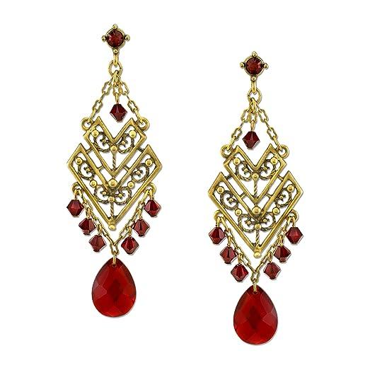 Amazon tru red crystal chevron chandelier earrings jewelry tru red crystal chevron chandelier earrings aloadofball Image collections