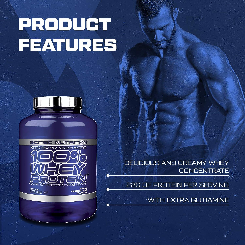 Scitec Nutrition 100% Whey Protein con aminoácidos adicionales, 2.35 kg, Chocolate Blanco