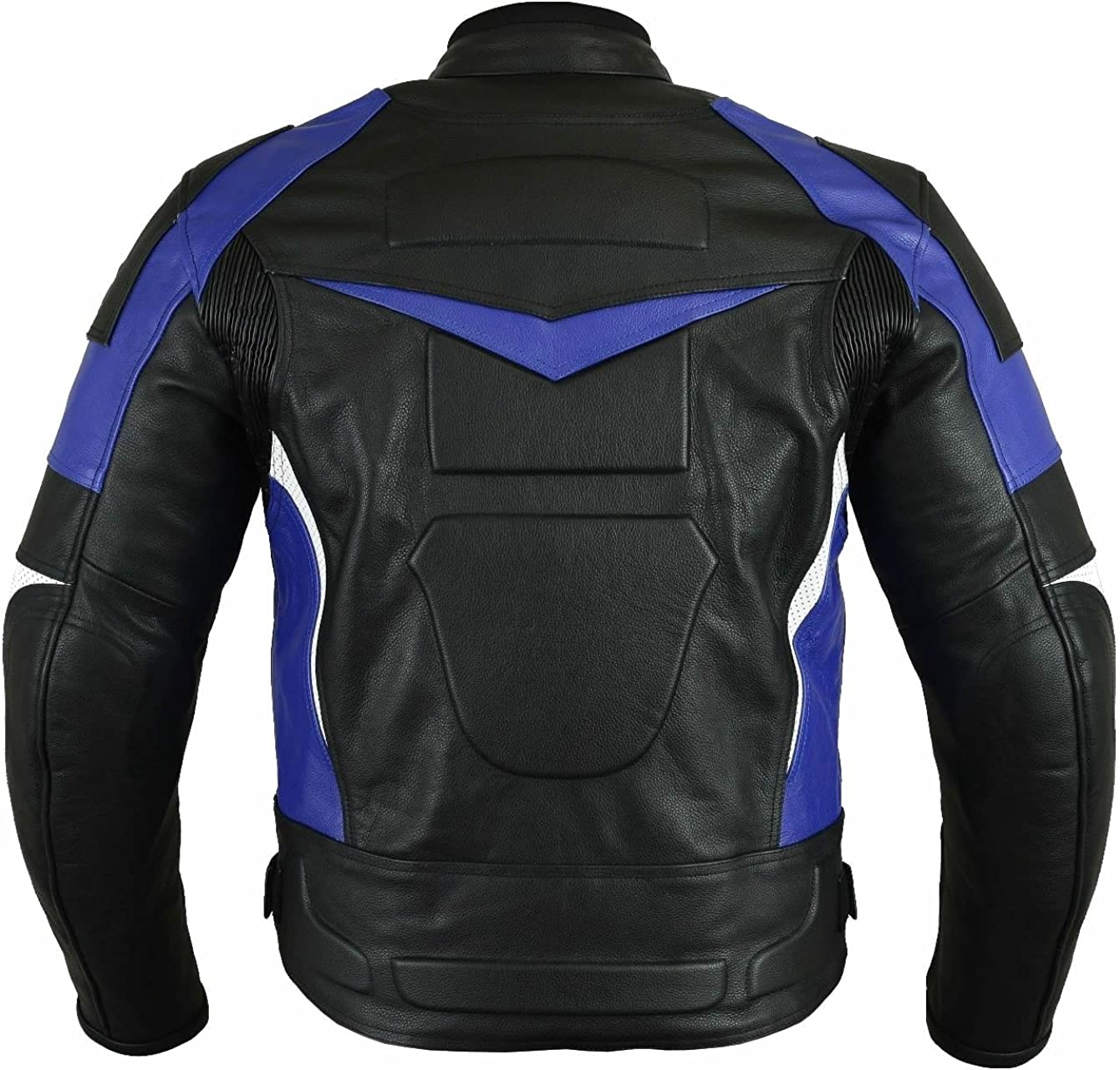 Sleekhides Mens Motorcycle Real Leather Jacket with CE Apporved Internal Protection