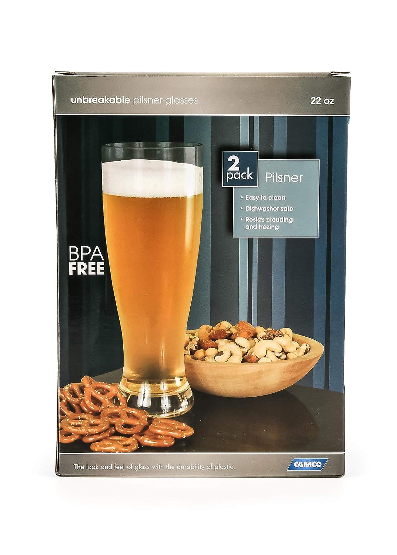 Confezione da 2 Pezzi Camco 43891 Bicchieri Birra in Policarbonato da 65 cl