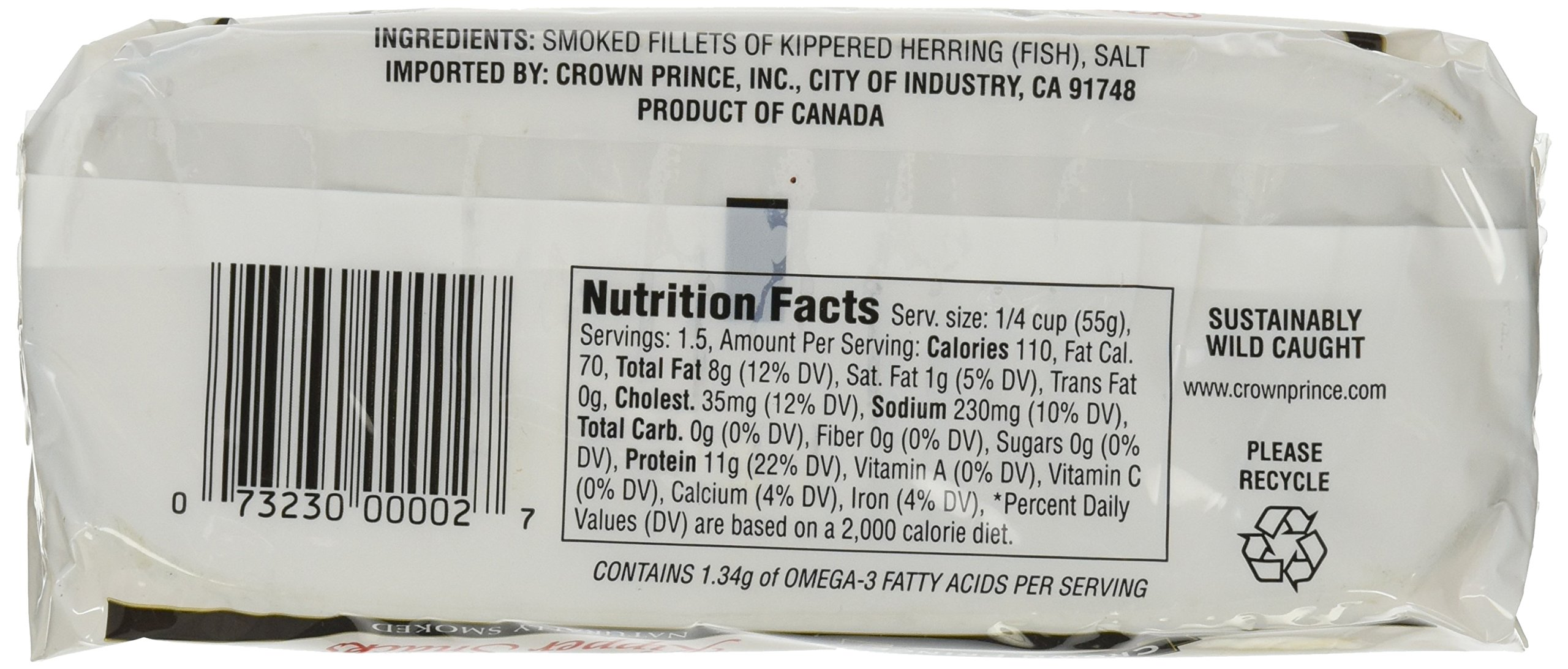 Crown Prince Kipper Snacks, 3.25 Ounce Cans (Pack of 18) by Crown Prince (Image #4)