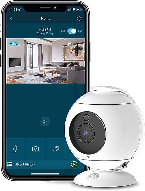 Opinión sobre Motorola Focus 89 - Cámara de Seguridad inalámbrico Interior Full HD1080p - Vigilancia WiFi - 360 Grados - Audio Bidireccional, Detección de Movimiento, Visión Nocturna y mas - Alexa Comp. - Blanco