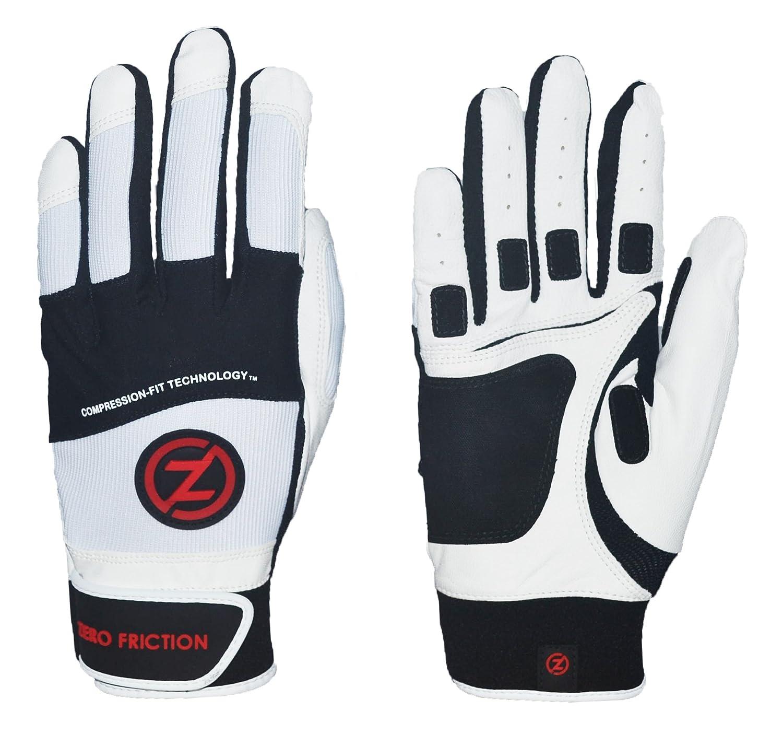Zero Frictionメンズ羊バッティング手袋 B015XWF3G0ホワイト