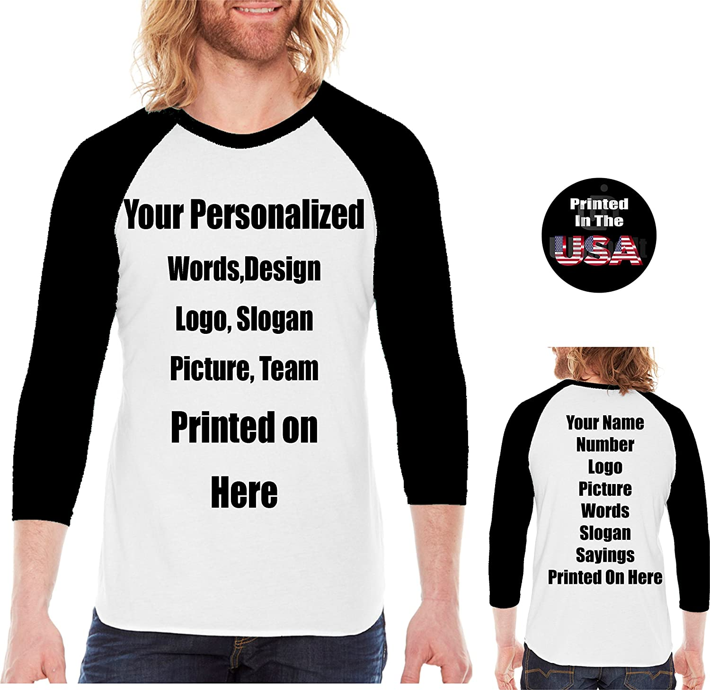 Amazon Personalized Unisex Raglan Tee Custom Raglan T Shirt